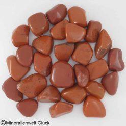Jaspis rot Trommelsteine, Edelsteine, Heilsteine