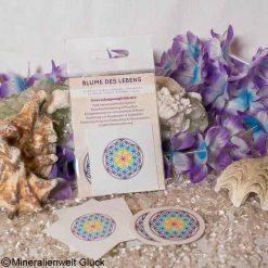 Blume des Lebens Chakrenfarben Aufkleber, Feng Shui, Edelsteine, Heilsteine