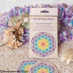 Blume des Lebens Chakra Aufkleber, Feng Shui, Edelsteine, Heilsteine
