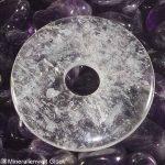 Bergkristall Edelstein Donut, Scheiben, Edelsteine, Heilsteine