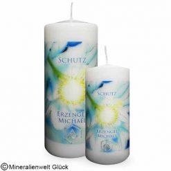 Energiekerze Michael Erzengel, Kerzen, Edelsteine, Heilsteine