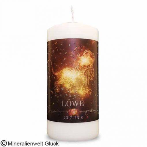 ENGELALM Energiekerze Sternzeichen Löwe, Kerzen, Edelsteine, Heilsteine