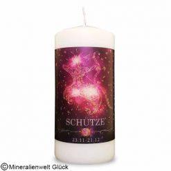 ENGELALM Energiekerze Sternzeichen Schütze, Kerzen, Edelsteine, Heilsteine