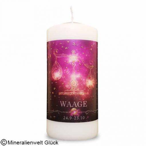 ENGELALM Energiekerze Sternzeichen Waage, Kerzen, Edelsteine, Heilsteine