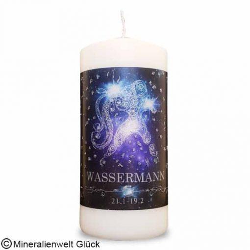 ENGELALM Energiekerze Sternzeichen Wassermann, Kerzen, Edelsteine, Heilsteine