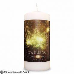 ENGELALM Energiekerze Sternzeichen Zwilling, Kerzen, Edelsteine, Heilsteine