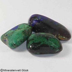 Azurit Malachit Trommelstein, Edelsteine, Heilsteine