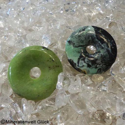 Chrysopras Donut, Edelsteine, Heilsteine, Mineralien