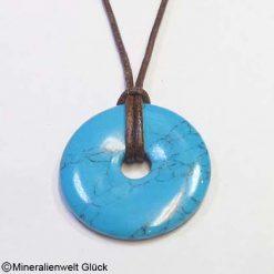 Howlith blau, Donuts, Mineralien, Edelsteine, Heilsteine