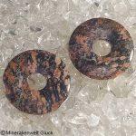 Leopardenjaspis Donut, Donuts, Mineralien, Edelsteine, Heilsteine