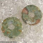 Rhyolith Donut, Donutscheiben, Mineralien, Edelsteine, Heilsteine
