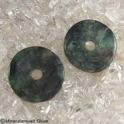 Smaragd Donut, Donutscheiben, Mineralien, Edelsteine, Heilsteine