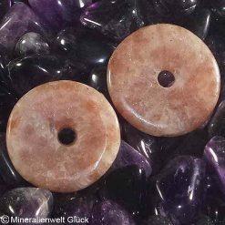 Sonnenstein Donut, Edelsteinscheiben, Mineralien, Edelsteine, Heilsteine