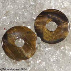 Tigerauge Donut, Edelsteinscheiben, Mineralien, Edelsteine, Heilsteine