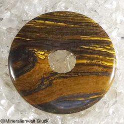 Tigereisen Donut Edelstein, Edelsteinscheiben, Mineralien, Edelsteine, Heilsteine