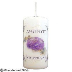 Energiekerze Amethyst, Kerzen, Edelsteine, Heilsteine