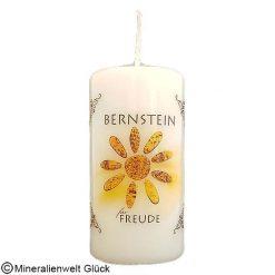 Energiekerze Bernstein, Kerzen, Edelsteine, Heilsteine