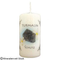 Energiekerze Turmalin, Kerzen, Edelsteine, Heilsteine