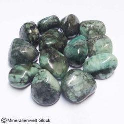 Smaragd Trommelsteine, Edelsteine, Heilsteine