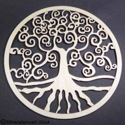 Birkenholz Baum des Lebens, Energiesymbol, Edelsteine, Heilsteine