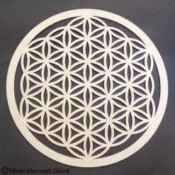 Birkenholz Blume des Lebens, Energiesymbol, Edelsteine, Heilsteine