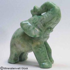 Edelstein Serpentin Elefant, Edelsteintiere, Edelsteine, Heilsteine