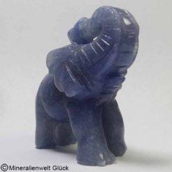 Edelstein Elefant Blauquarz, Edelsteintiere, Edelsteine, Heilsteine