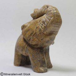 Edelstein Elefant Landschaftsjaspis, Edelsteintiere, Edelsteine, Heilsteine