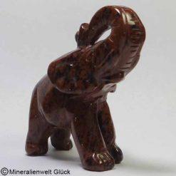 Edelstein Elefant Mahagoni, Edelsteintiere, Edelsteine, Heilsteine