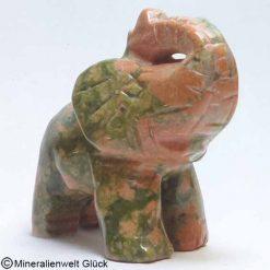Edelstein Elefant Unakit, Edelsteintiere, Edelsteine, Heilsteine