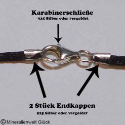 Seidenband schwarz Meterware, Schmuckanfertigung, Edelsteine, Heilsteine