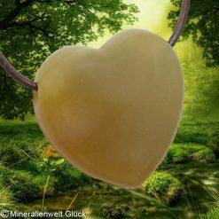 Achat Herz gebohrt, Mineralien, Heilsteine