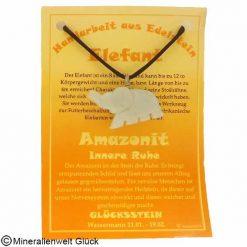 Amazonit Elefant, Sternzeichen, Edelsteine, Heilsteine