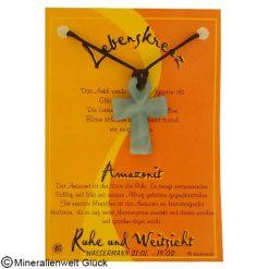 Amazonit Lebenskreuz, Sternzeichen, Edelsteine, Heilsteine