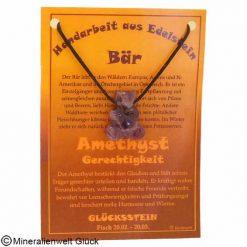 Amethyst Bär, Sternzeichen, Edelsteine, Heilsteine