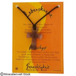 Amethyst Lebenskreuz, Sternzeichen, Edelsteine, Heilsteine