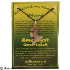 Amethyst Pferd, Sternzeichen, Edelsteine, Heilsteine