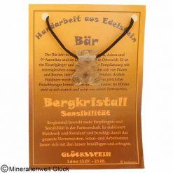 Bergkristall Bär, Sternzeichen, Edelsteine, Heilsteine