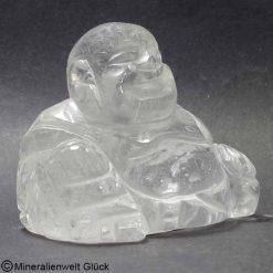 Bergkristall Buddha, Dalai Lama, Edelsteinfigur, Edelsteine, Heilsteine