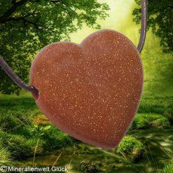 Goldfluß Herz gebohrt, Mineralien, Heilsteine