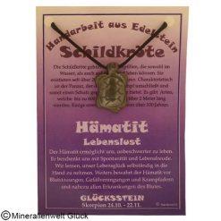 Hämatit Schildkröte, Sternzeichen, Edelsteine, Heilsteine