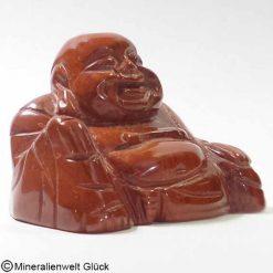 Jaspis rot Buddha, Dalai Lama, Edelsteinfigur, Edelsteine, Heilsteine