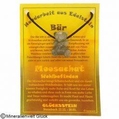Moosachat Bär, Sternzeichen, Edelsteine, Heilsteine