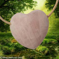 Rosenquarz Herz, Mineralien, Heilsteine