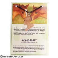 Rosenquarz Pferd, Edelsteine, Mineralien
