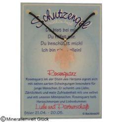 Rosenquarz Schutzengel, Sternzeichen, Edelsteine, Heilsteine