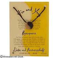 Rosenquarz Yin Yang, Sternzeichen, Edelsteine, Heilsteine