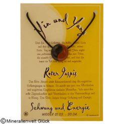 Roter Jaspis Yin Yang, Sternzeichen, Edelsteine, Heilsteine