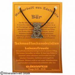 Schneeflockenobsidian Bär, Sternzeichen, Edelsteine, Heilsteine