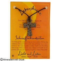 Schneeflockenobsidian Lebenskreuz, Sternzeichen, Edelsteine, Heilsteine